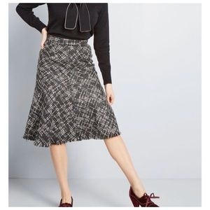 Modcloth Gal About Town Tweed Midi Skirt